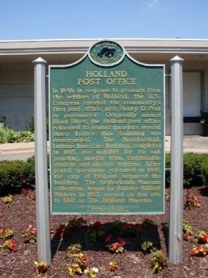 Holland Post Office Marker image. Click for full size.