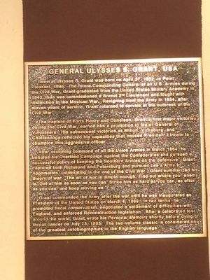 Plaque for Gen. Ulysses S. Grant image. Click for full size.