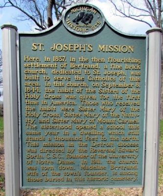 St. Joseph's Mission Marker image. Click for full size.