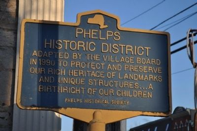 Phelps Historic District Marker image. Click for full size.