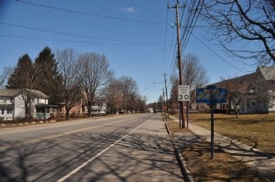 Naples Marker as seen facing Northeast on Cohocton St. image. Click for full size.