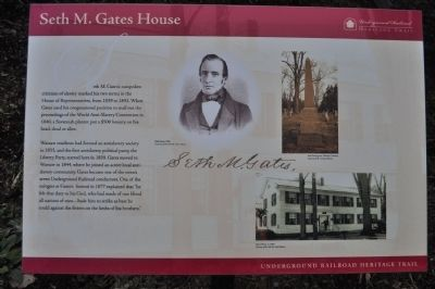 Seth M. Gates House Marker image. Click for full size.