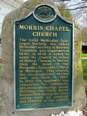Morris Chapel Church Marker image. Click for full size.