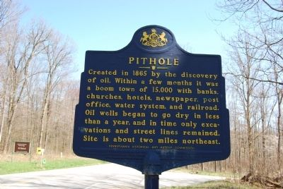 Pithole Marker image. Click for full size.