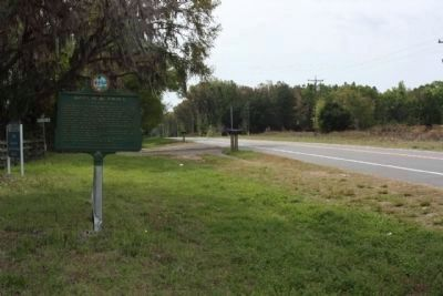 Santa Fe de Toloca Marker looking south along County Road 241 S image. Click for full size.