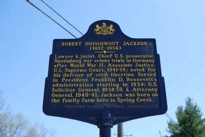 Robert Houghwout Jackson Marker image. Click for full size.