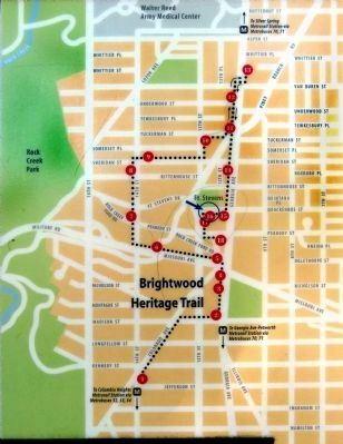 Map -- Brightwood Heritage Trail image. Click for full size.