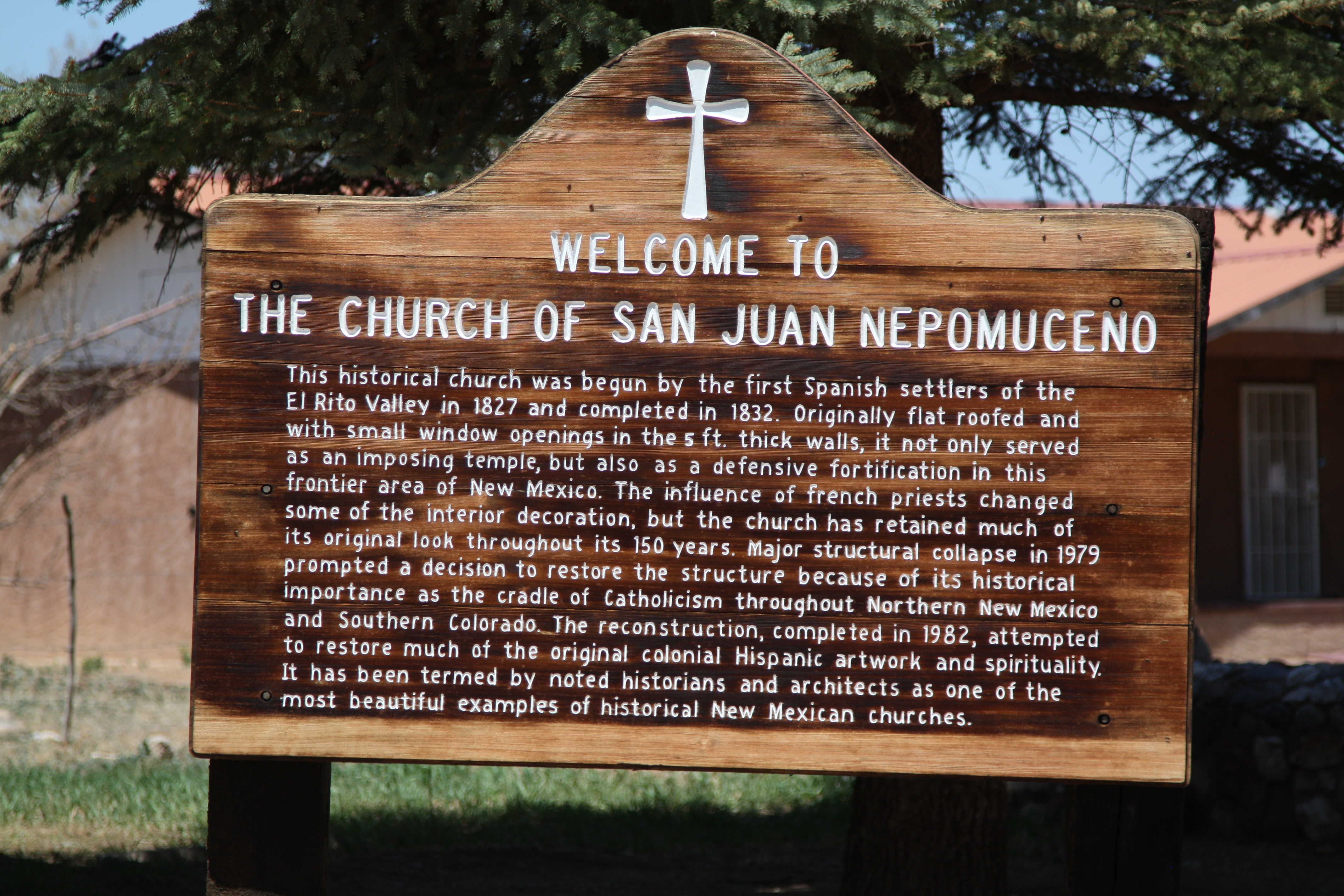Welcome to the Church of San Juan Nepomuceno Marker