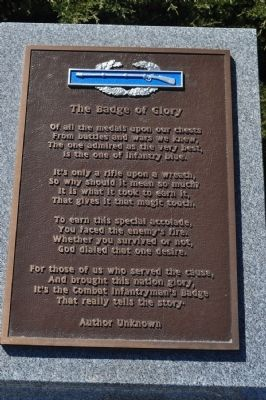 Badge of Glory Poem marker image. Click for full size.