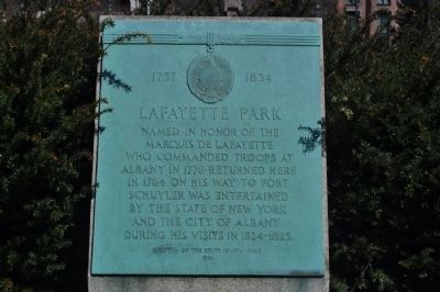 LaFayette Park Marker image. Click for full size.