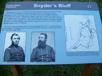 Snyder's Bluff Marker image. Click for full size.