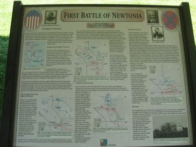 First Battle of Newtonia Marker image. Click for full size.