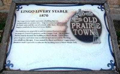 Lingo Livery Stable Marker image. Click for full size.