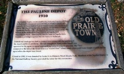 The Pauline Depot Marker image. Click for full size.