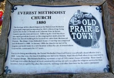 Everest Methodist Church Marker image. Click for full size.