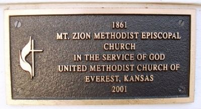 Everest Methodist Church Anniversary Marker image. Click for full size.