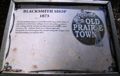 Blacksmith Shop Marker image. Click for full size.