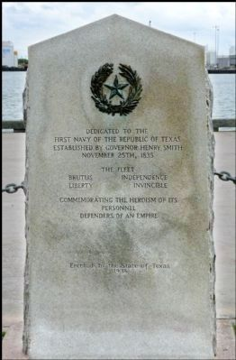 First Navy of the Republic of Texas Marker image. Click for full size.