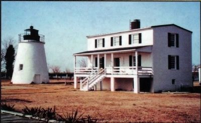 Piney Point Lighthouse and keeper's quarters 2005 image. Click for full size.