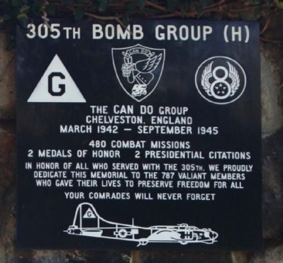 305th Bomb Group (H) Marker image. Click for full size.