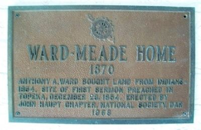 Ward-Meade Home Marker image. Click for full size.