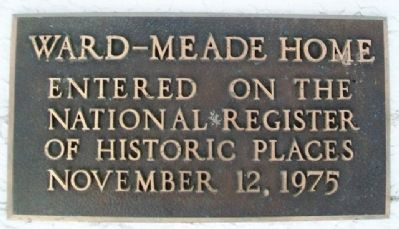 Ward-Meade Home NRHP Marker image. Click for full size.
