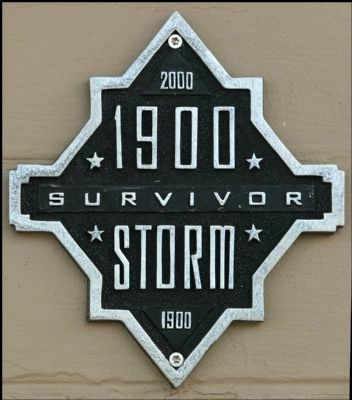 Survivor of 1900 Storm Marker image. Click for full size.
