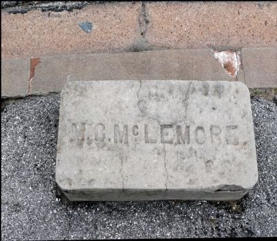 Concrete Stone Near Street With Original Owner's Name image. Click for full size.