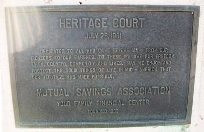 Heritage Court Marker image. Click for full size.