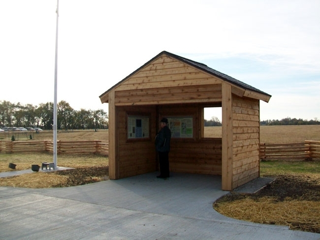 The Battle of Island Mound State Historic Site Kiosk