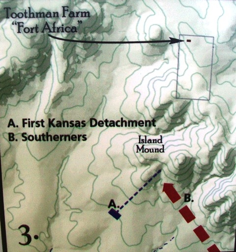 Phase 3 of The Battle of Island Mound on Marker
