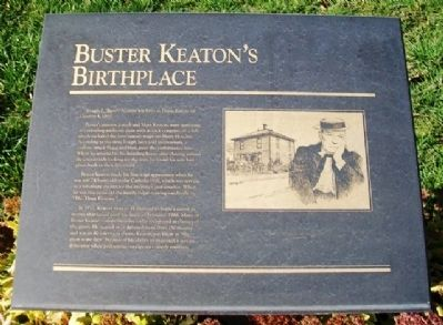 Buster Keaton's Birthplace Marker image. Click for full size.