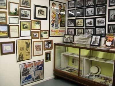 Part of the Buster Keaton Museum in Rural Water District 1 Office image. Click for full size.