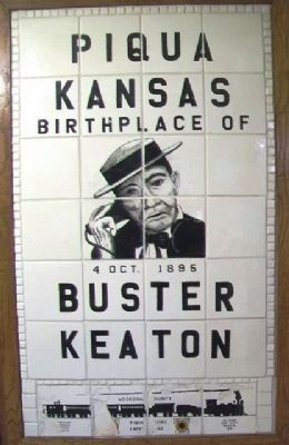 Buster Keaton Tile Marker image. Click for full size.