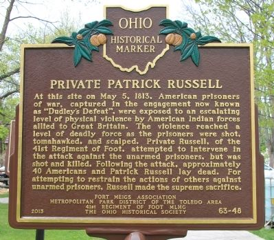 Private Patrick Russell Marker image. Click for full size.