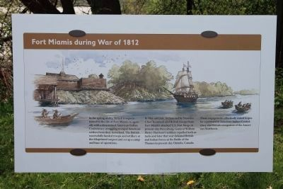 Fort Miamis during War of 1812 (a temporary) Marker image. Click for full size.