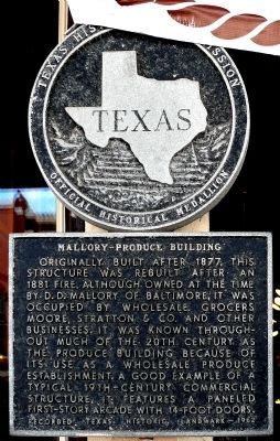 Mallory-Produce Building Marker image. Click for full size.