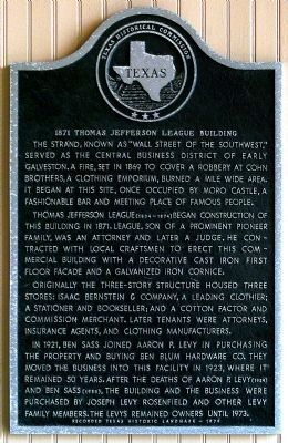 1871 Thomas Jefferson League Building Marker image. Click for full size.