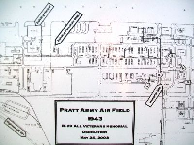 Pratt Army Air Field Blueprint Detail on Marker image. Click for full size.