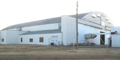 Former WWII Pratt Army Air Field Airplane Hangar image. Click for full size.