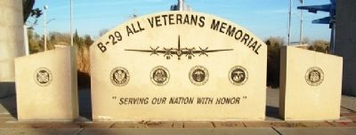 B-29 All Veterans Memorial Marker image. Click for full size.