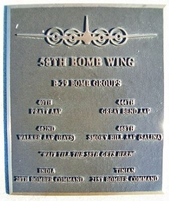 58th Bomb Wing Marker image. Click for full size.