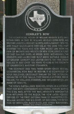 Hendley's Row Marker image. Click for full size.