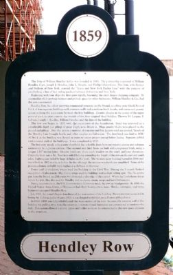 Verbose Marker Erected by the City of Galveston for Hendley's Row image. Click for full size.