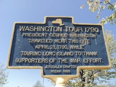 Washington Tour 1790 Marker image. Click for full size.