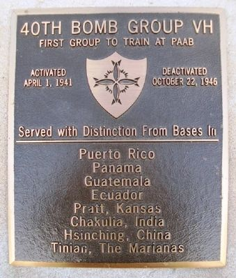 40th Bomb Group VH Marker image. Click for full size.