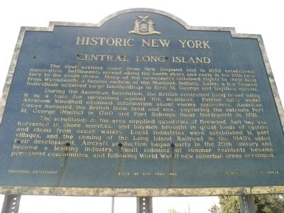 Central Long Island Marker image. Click for full size.