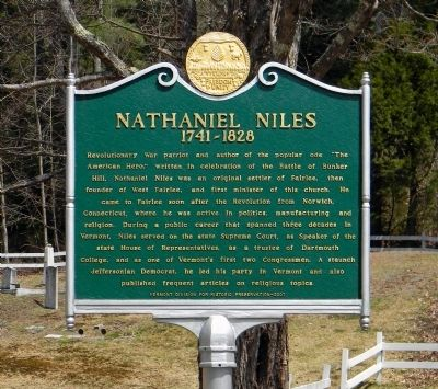 Nathaniel Niles Marker image. Click for full size.
