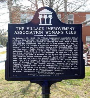 The Village Improvement Association Woman's Club Marker image. Click for full size.