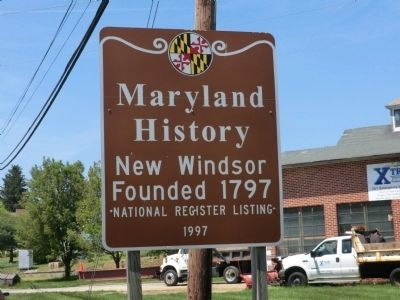 Maryland History-New Windson Marker image. Click for full size.